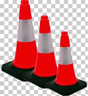 "28"" Orange Traffic Cone Natural Rubber PNG"