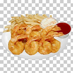 Fast Food French Fries Onion Ring Fried Shrimp PNG