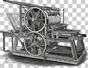 Printing Press Paper Woodblock Printing Invention PNG