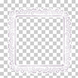 Lace Frame White Pin PNG
