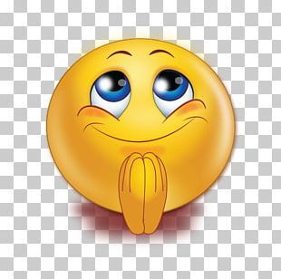 Smiley Praying Hands Emoticon Emoji Prayer PNG