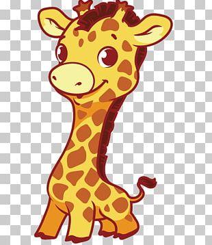 Giraffe Cuteness Illustration PNG