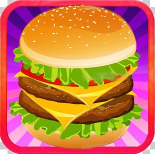 Hamburger Cheeseburger French Fries Fried Chicken PNG