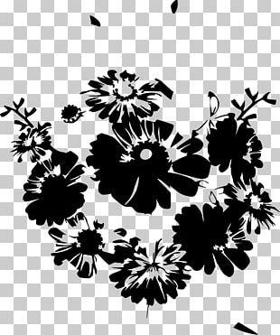 Flower Bouquet Black And White Floral Design Petal PNG