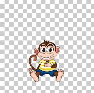 Cartoon Drawing Monkey PNG