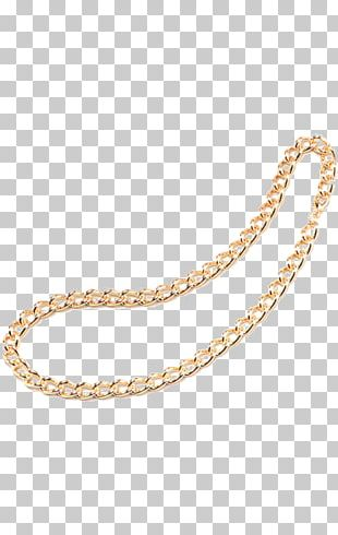 Earring Chain Gold Necklace PNG