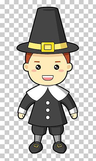 Turkey Pilgrim Cartoon Thanksgiving PNG