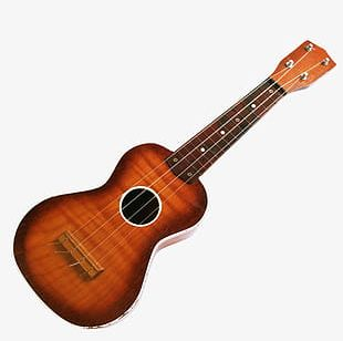 Brown Folk Guitar PNG