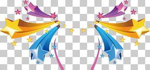 Color Star Light Radiation PNG
