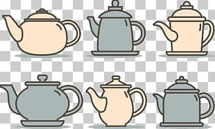 Teapot Coffee Cup Cafe PNG