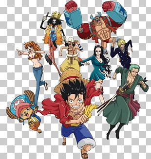 Monkey D. Luffy One Piece Straw Hat Pirates Figurine Character PNG