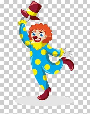 Clown Cartoon Circus Icon PNG