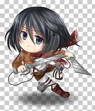 Mikasa Ackerman Eren Yeager Attack On Titan Chibi A.O.T.: Wings Of Freedom PNG