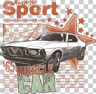 Sports Car T-shirt Paper PNG