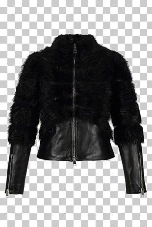Leather Jacket Fur Clothing Coat PNG