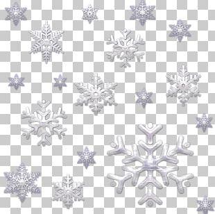 Snowflake Line Symmetry Point Pattern PNG