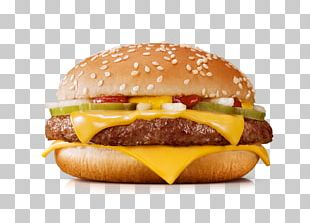 McDonald's Quarter Pounder Cheeseburger Hamburger Restaurant PNG