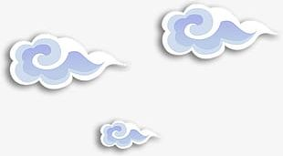 Chinese Style Cartoon Clouds PNG