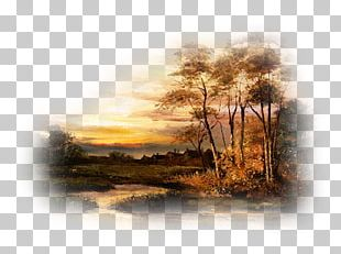 Landscape Painting Autumn Theatrical Scenery PNG