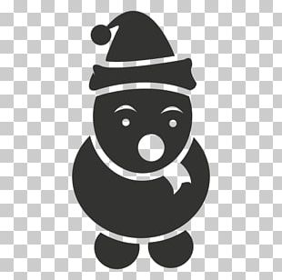 Snowman Drawing Scarf PNG
