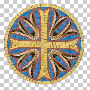 Mosaic Symmetry Symbol Circle Pattern PNG