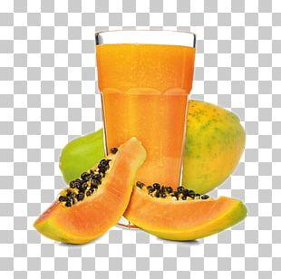 Orange Juice Smoothie Papaya Drink PNG