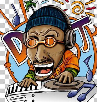 Cartoon DJ Character Design PNG