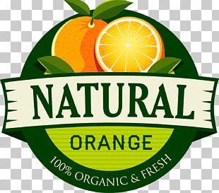 Orange Juice Organic Food Label PNG