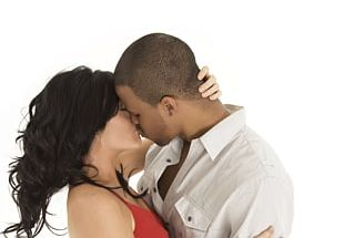 Kiss Love Couple Interracial Marriage PNG