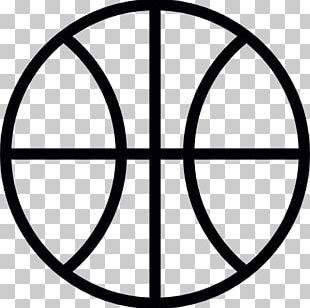 Outline Of Basketball Flat Design PNG