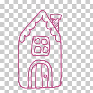 Small House Deer Stick Figure PNG