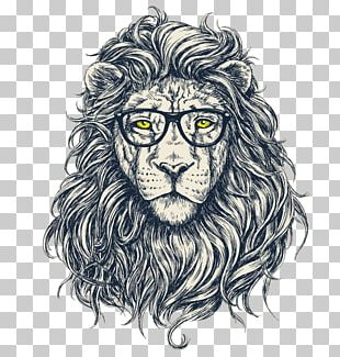 Lion Hipster Stock Photography PNG