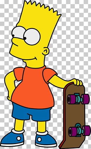 The Simpsons Skateboarding Bart Simpson Homer Simpson Krusty The Clown Marge Simpson PNG