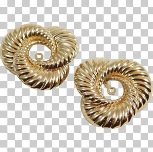 Earring Body Jewellery Silver Colored Gold PNG