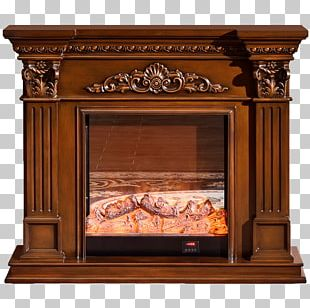 Hearth Furniture Furnace Fireplace Mantel PNG