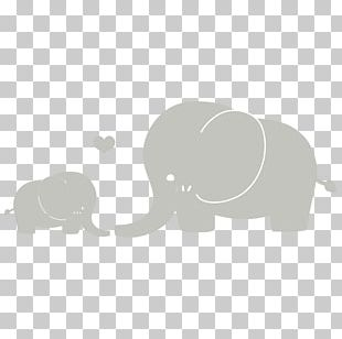 Infant Elephant Mother Silhouette PNG