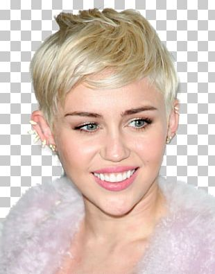 Miley Cyrus Pixie Cut Hairstyle Hair Coloring Bangs PNG