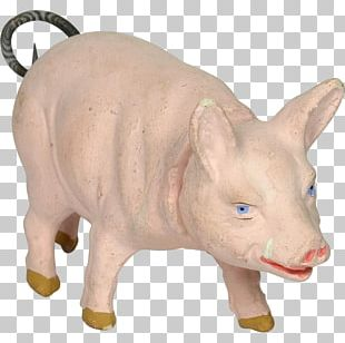 Domestic Pig Cattle Snout Figurine PNG