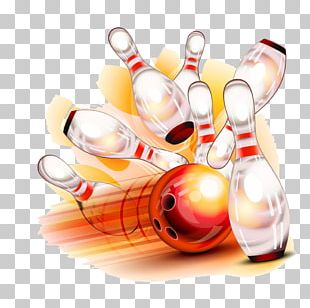 Bowling Pin Bowling Ball Illustration PNG