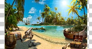 Treasure Island Piracy Fototapet PNG