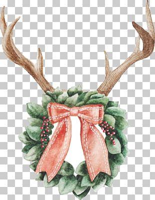Christmas Day Watercolor Painting Christmas Ornament Reindeer Christmas Lights PNG