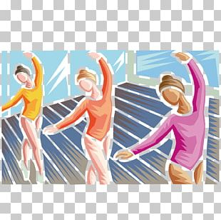 Graphic Design Ballet Woodcut Illustration PNG