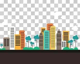 Gandhinagar Abstract City Apartment Flat Design PNG