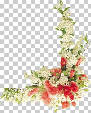 Border Flowers Graphic Design Floral Design PNG