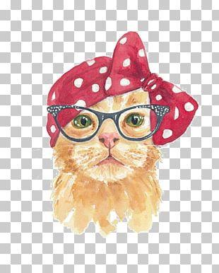 Persian Cat Kitten Watercolor Painting Tabby Cat PNG