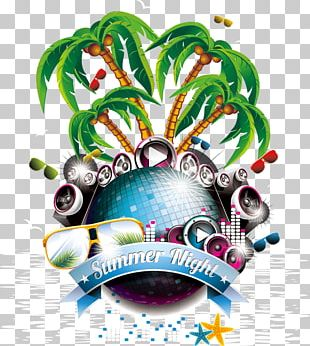 Summer Party Flyer PNG