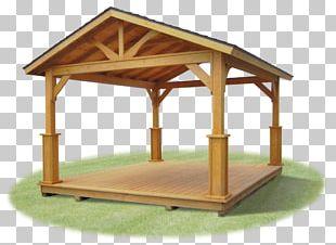 Gazebo Wood Pavilion Garden Roof PNG