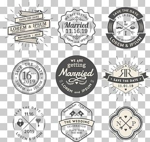 Wedding Invitation Logo Vintage Clothing PNG