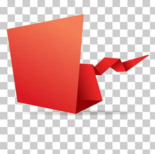 Paper Red Origami PNG