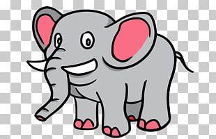 Cartoon Drawing Elephant PNG